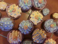 Halloween cupcakes closeup