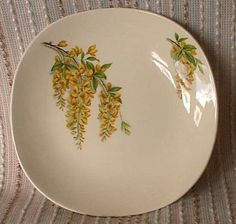 J&G Meakin Sol GOLDEN CHAIN SIDE PLATE, retro shabby chic vintage