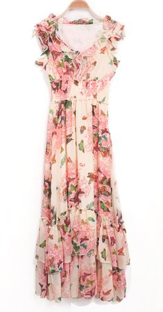 We've got a major obsession with lightweight chiffon maxi dresses ...