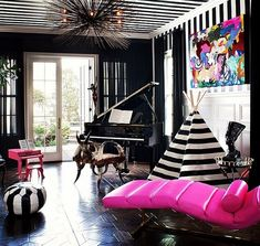 Black, white and pink fabulousness! OBSESSED