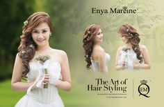 The art of Hair styling  Bridal hairdo for photography and wedding day