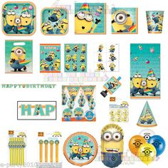 Despicable Me 2 Minions Birthday Party Supplies