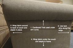 Step by step couch makeover. Thr best one I have found.