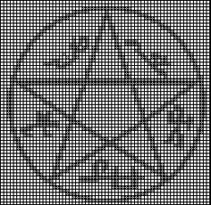 Devil's Trap cross stitch pattern by Rianelfe.deviantart.com on @DeviantArt