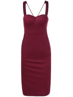 Bodycon Dresses | Stylish Skinny Wine Red Sleeve Dress #summer #fashion #winered #dress
