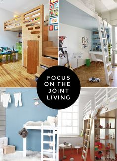 Great ideas here on what to consider for a shared space bedroom. Love the top left corner in particular!