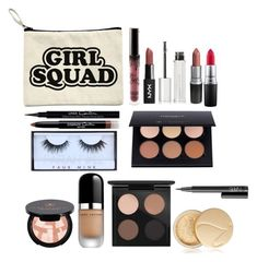 """Makeup bag💞"" by itgirlcarlota ❤ liked on Polyvore featuring beauty, Kylie Cosmetics, Givenchy, MAC Cosmetics, Huda Beauty, Anastasia Beverly Hills, Marc Jacobs, Jane Iredale and NARS Cosmetics"