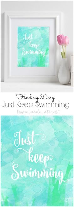 Just Keep Swimming is one of my favorite Dory quotes and I can't wait to see what new inspiring and funny words of wisdom that Dory comes up with in the the upcoming Finding Dory movie.