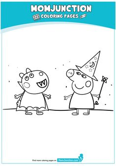 Peppa Pig at Beach Coloring Page Peppa Pig Coloring Pages, Beach Coloring Pages, Cartoon Coloring Pages, Peppa Pig Drawing, Pig Halloween, Halloween Coloring Pages, Pig Party, Diy Home Crafts, Infant Activities