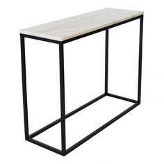Accent konsollbord ljus marmor/svart - Bord | Ekeby Möbler