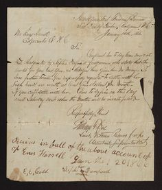 Letter from Freedmen's Bureau, Subdivision of Tarboro, Rocky Mount, N.C., sent to Enos Harrell, charging that Harrell failed to pay proper wages to a Negro servant, Sophia Dunford. Dated 14 January 1866. The Freedmen's Bureau, an important factor in the work of Reconstruction in the South, was charged with the settlement of disputes between Whites and Negroes. From the Enos Harrell Papers (#46), East Carolina Manuscript Collection, J. Y. Joyner Library, East Carolina University.