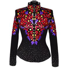 Red, Purple and Gold Western Show Jacket