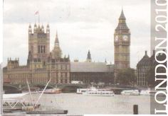 https://flic.kr/p/bm7GYP | Postcrossing GB-167863 | Nice view of London in 2010 with Big Ben. Postcard sent by a Postcrosser in the United Kingdom.