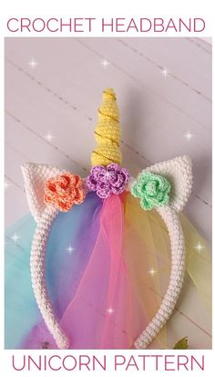 Crochet unicorn pattern Crochet unicorn headband pattern Crochet easter headband pattern Crochet Unicorn Costume ***This pattern is available only in English. Crochet terms – US Level: easy Let me introduce this sweet headband unicorn! Crochet Unicorn Pattern, Easter Crochet Patterns, Crochet Headband Pattern, Crochet Bunny, Crochet For Kids, Crochet Flowers, Crochet Winter Hats, Crochet Hair Accessories, Halloween Headband
