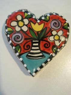 ceramic heart by Shannon Mitchell