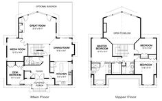 2500 sq ft. Change upstairs 3rd bedroom to laundry, add three car garage. strathcona-floor-plan