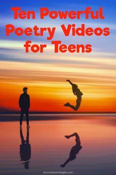 High School Classroom, Homeschool High School, Homeschooling, Ela Classroom, Poems For Middle School, Poems For Students, Poetry Activities, Educational Activities, Teaching Poetry