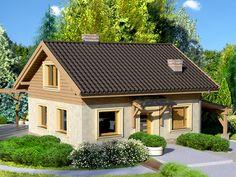 DOM.PL™ - Projekt domu Dom przy Imbirowej CE - DOM EB2-61 - gotowy projekt domu
