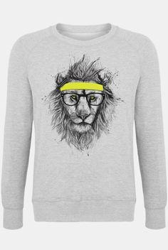 c76e4b3d837 Hipster Lion as Men s Sweater by Balázs Solti