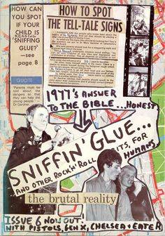 SNIFFIN' GLUE: Mark Perry, 1977