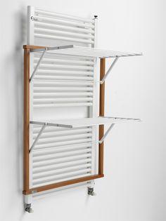 Wäscheständer mit Buchenholzrahmen für Wandheizkörper // Laundry rack with beechwood frame for wall heaters by Laubmann