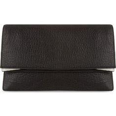 MCQ ALEXANDER MCQUEEN Soft leather foldover clutch