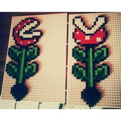 Mario plants hama perler beads by plastikperlen