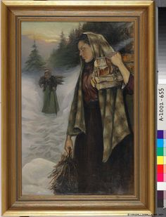 Helmi Biese (1867-1933) Puunkerääjät / Wood gatherers 1901 - Finland