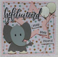 Gemaakt door Joke # kinderkaart met olifantje