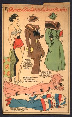 1930'S Newspaper Paper Doll* The International Paper Doll Society by Arielle Gabriel for all paper doll and paper toy lovers. Mattel, DIsney, Betsy McCall, etc. Join me at ArtrA, #QuanYin5 Linked In QuanYin5 YouTube QuanYin5!