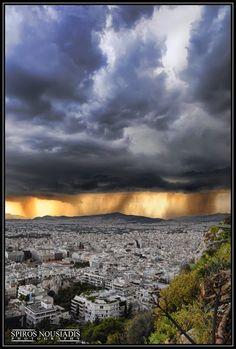 Καταιγίδα - Thunderstorm, Lofos Likavitou, Athina, Grècia