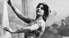PHOTO: Dutch courtesan, exotic dancer and alleged spy Margaretha Geetruida Zella, better known as Mata Hari (1876 - 1917), performs the Dance of the Seven Veils in 1906.