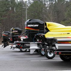 A fleet of Merc ready to torch the river! Fast Boats, Speed Boats, Fishing Photos, Mercury Outboard, Outboard Motors, Power Boats, Water Crafts, Fishing Boats, Engineering