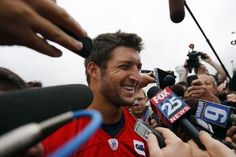 98a28a8dd For Tim Tebow it s a new team and a new season but the same drama when it  comes to NFL analysts scrutinizing his every move – this time with the New  England ...