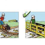 Yanlış ve Doğruları ile İnşaatta İş Güvenliği | İnşaat Gündemi Safety Cartoon, Signs, Poster, Workplace Safety, Shop Signs, Billboard, Sign