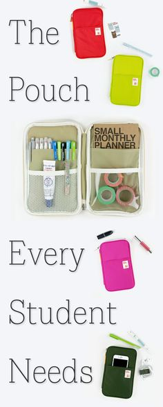 What's the secret to a successful school year? Keeping yourself organized and on top of things is a breeze with the Better Together Pouch It's colorful and has all the right com College Hacks, School Hacks, College Life, School Tips, Middle School, Back To School, High School, School Stuff, School School
