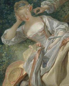 ❤ - The interrupted sleep    Francois Boucher: 1750