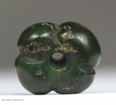 Culture: Moche or Chimu. Item Title: Pre Columbian Bead. Ex NY 60's estate collection. Made of: Green stone Turquoise. Condition: Good, beautiful age patina. Perfect for study material or to add to your collection.   eBay!