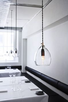 Beautiful glass pendant lamp. Wish I have high ceilings in my house!