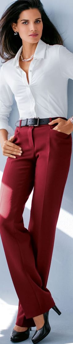 Madeleine Dark Red Trousers