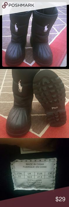 Kids Polo Winter Games IV snow boots Stylish and gently worn boots,good for rain and snow! Polo by Ralph Lauren Shoes Rain & Snow Boots