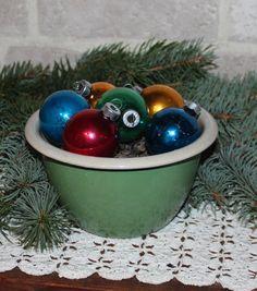 Green enamelware bowl farmhouse kitchen green by prettydish