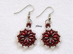 Earrings made of Superduo beads