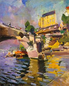 "Константин Коровин «Мост в Сен-Клу» 1936 | Konstantin Korovin ""the bridge at Saint-cloud"" 1936 #impressionism #Russianpainters"