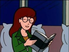 Books You Should Be Reading That Appeared On Daria Daria Morgendorffer, Huckleberry Finn, Los Hermanos Karamazov, Daria Quotes, Dc Superhero Girl, Daria Mtv, Cartoon Profile Pics, Nickelodeon, Cartoon Faces