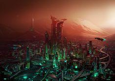 ArtStation - Martian City, Samuel Aaron Whitehead