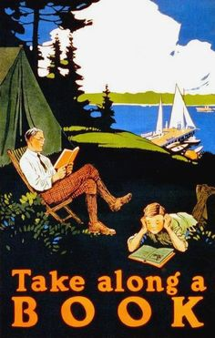 Take Along A Book - poster, 1910 in Media Art by