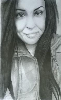 Portrait pencil drawing fine art