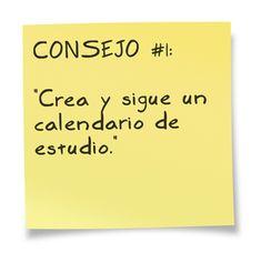 10 Consejos: Cómo Preparar los Exámenes en el blog de ExamTime.es. Consejo #: Crea y sigue un calendario de estudio.