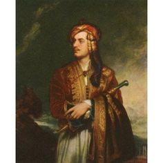 Lord Byron in Albanian dress after the painting by Thomas Phillips in 1813 George Gordon Byron 6th Baron Byron later George Gordon Noel 6th Baron Byron 1788 Canvas Art - Ken Welsh Design Pics (12 x 1